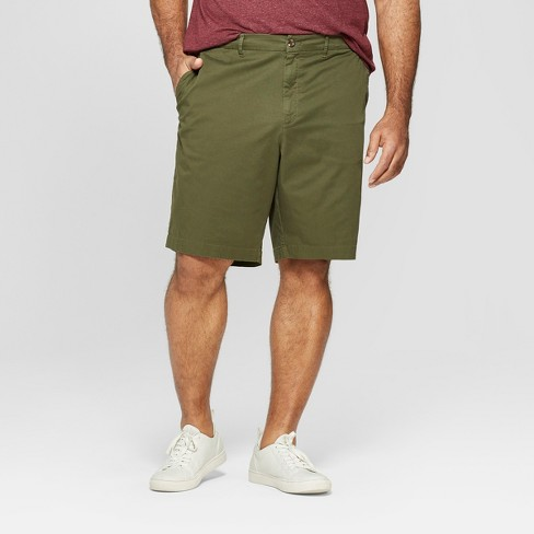 "Men's Big & Tall 10.5"" Slim Fit Chino Shorts - Goodfellow & Co™ Green - image 1 of 3"