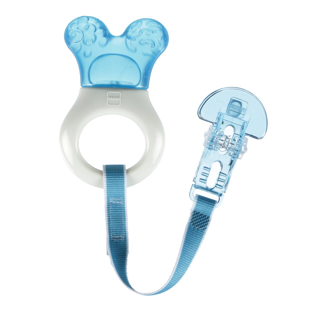 Image of MAM Mini-Cooler Teether with Clip - Blue