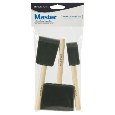 "Master 3pc 1""- 3"" Foam Paint Brush Set"