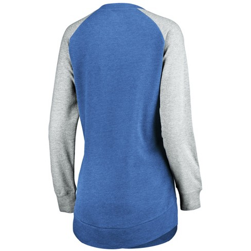 the latest 9dc9c 25c5c NFL Detroit Lions Women's Brushed Tunic/ Gray Crew Neck Fleece Sweatshirt