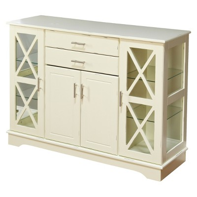 Kendall Buffet Servers Wood/Antique White - Buylateral