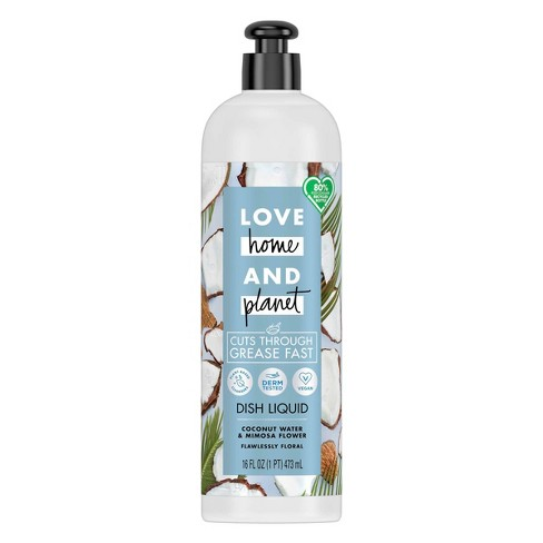 Love Home & Planet Dish Liquid - Coconut Water & Mimosa Flower - 16 fl oz - image 1 of 4