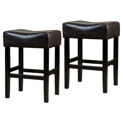 Excellent Portman Bonded Leather 26 Counter Stool Brown Set Of 2 Christopher Knight Home Gmtry Best Dining Table And Chair Ideas Images Gmtryco