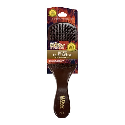 WavEnforcer Double Sided Fade Hair Brush - Wood