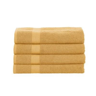 Eco-Friendly Absorbent 4-Piece Bath Towel Set - Blue Nile Mills