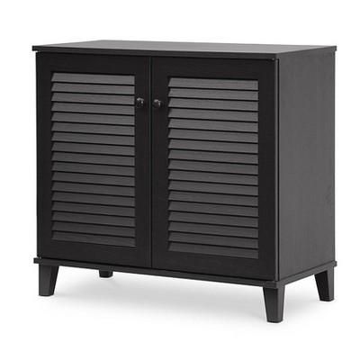 Coolidge Shoe - Storage Cabinet - Espresso - Baxton Studio