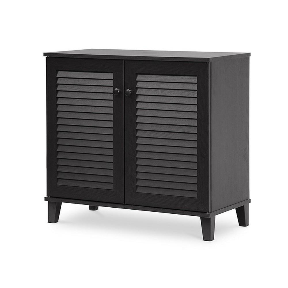 Image of Coolidge Shoe - Storage Cabinet - Espresso - Baxton Studio, Espresso Brown