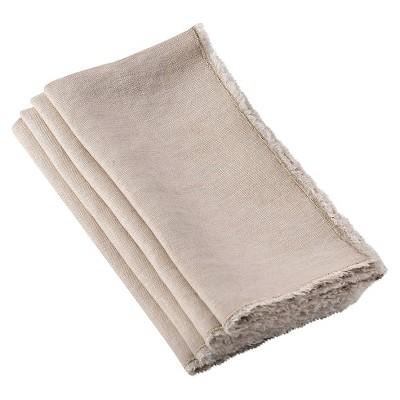 Fringed Design Stone Washed Napkins (Set Of 4)