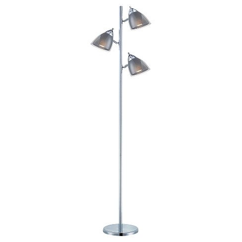 Selika Ii Floor Lamp Chrome/Smoked (Includes Energy Efficient Light Bulb) - Lite Source - image 1 of 2