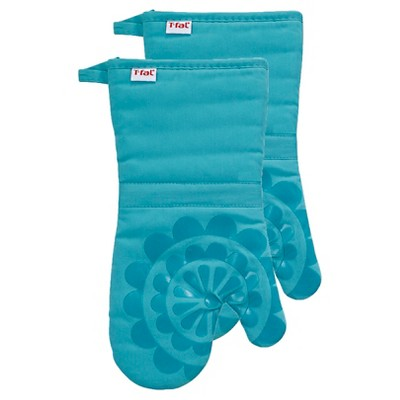 "2pk 13""x13"" Medallion Silicone Oven Mitt - T-Fal"