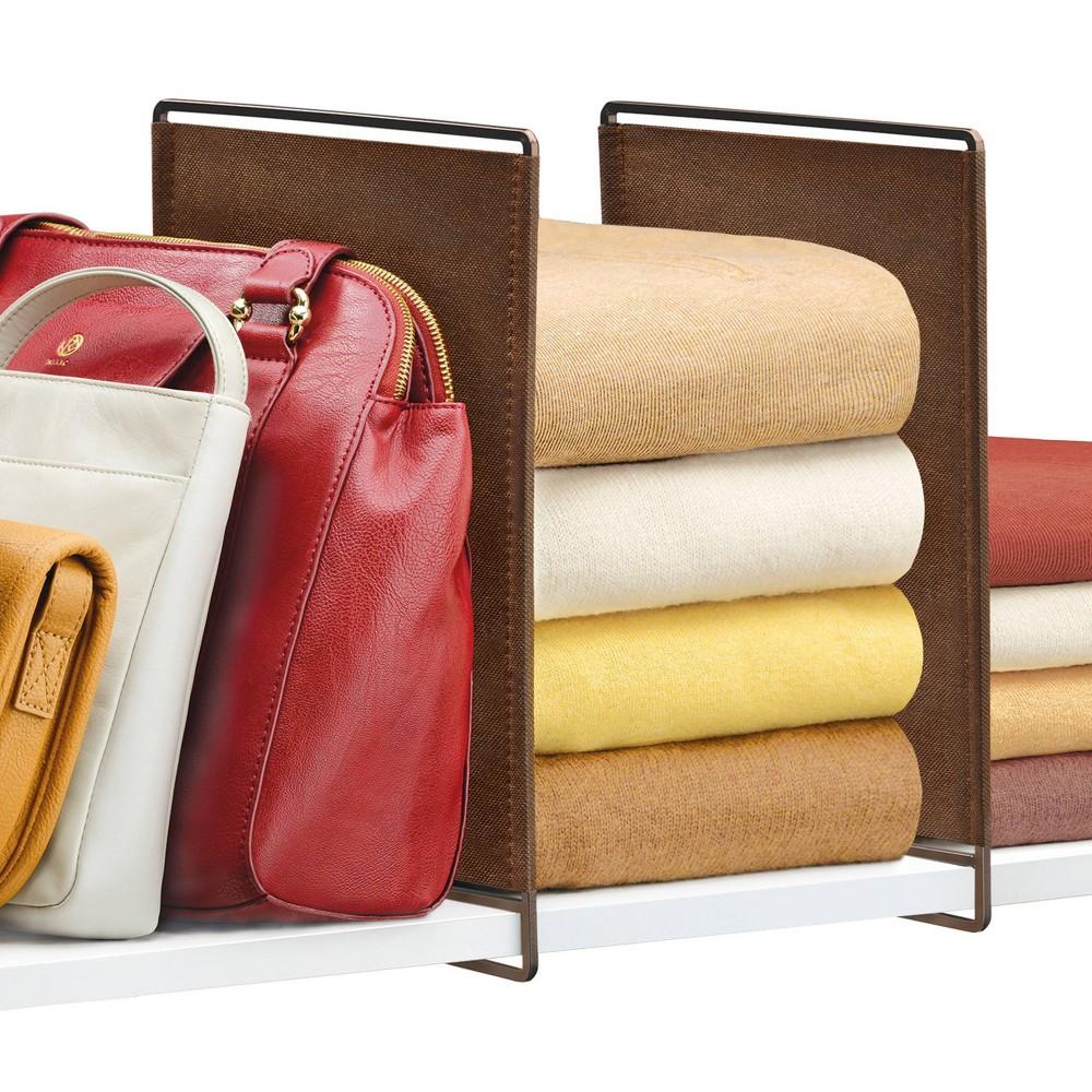 Lynk Vela Shelf Dividers Closet Shelf Organizer (Set of 2) - Bronze Top