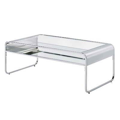 Milrix Coffee Table with Glass Top - miBasics