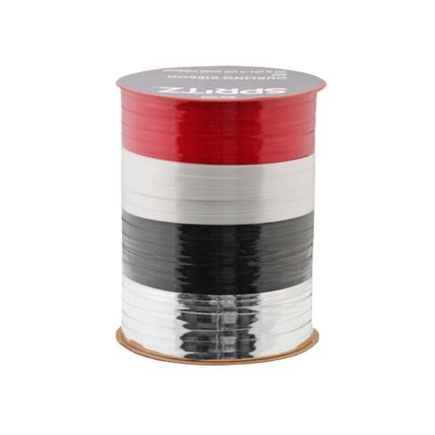 4ct Red/White/Black/Silver Curl Ribbon 70ft - Wondershop™ - image 1 of 1