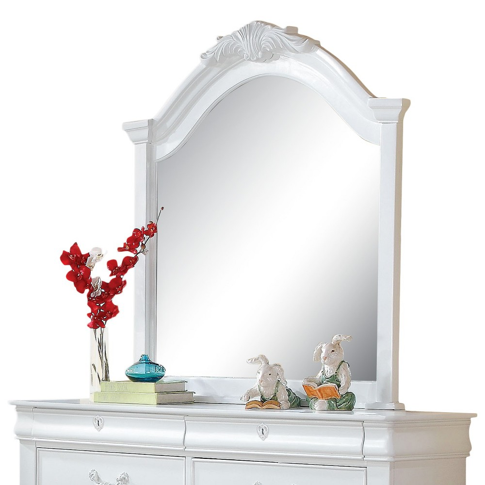 Image of Estrella Kids Dresser Mirror - White - Acme