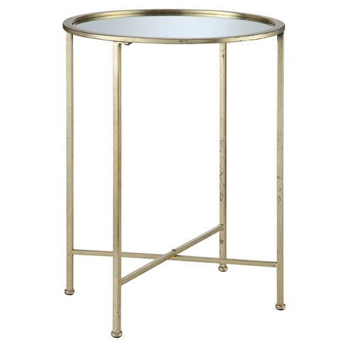 Gold Coast Julia Mirrored End Table Convenience Concepts Target