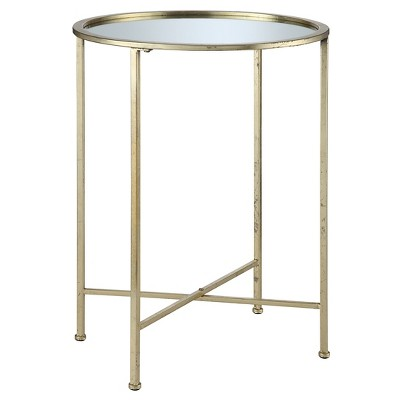 Charmant Gold Coast Julia Mirrored End Table   Convenience Concepts : Target