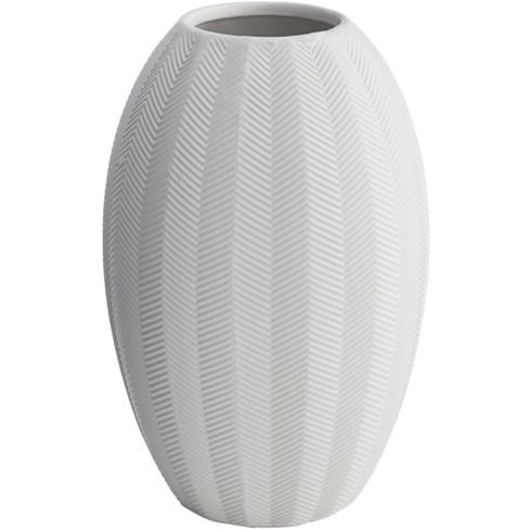 "Dahlia Studios Zig Zag 10 3/4"" High Matte White Porcelain Decorative Vase - image 1 of 4"