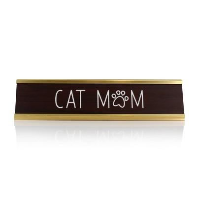 Target Cat Mom Decorative Plaque White