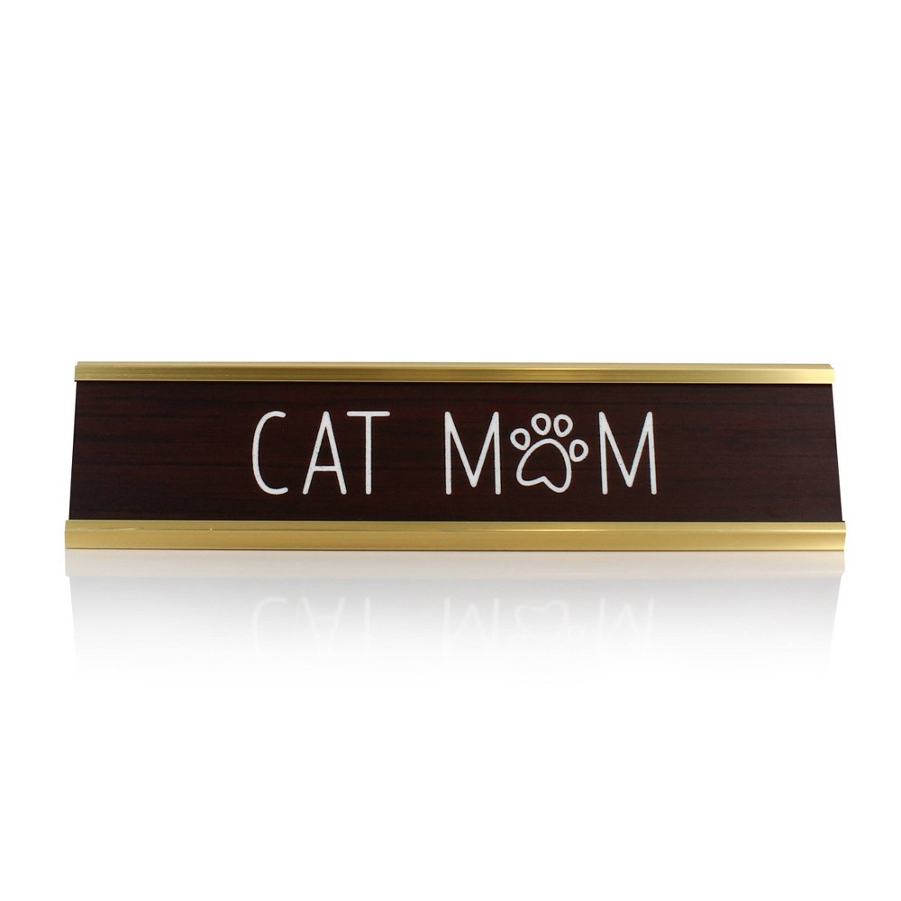 Image of Target Cat Mom Decorative Plaque White