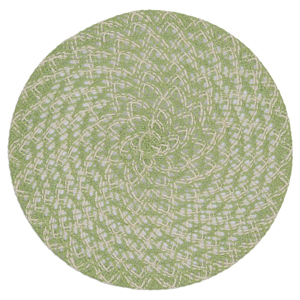 6pk Green Leaf Braided Placemat 14.75 - Design Imports