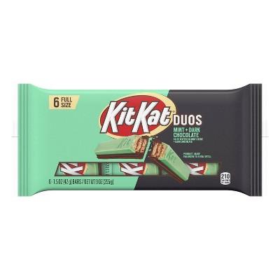 Kit Kat Duos Dark Chocolate Mint Candy Bar - 9oz/6pk