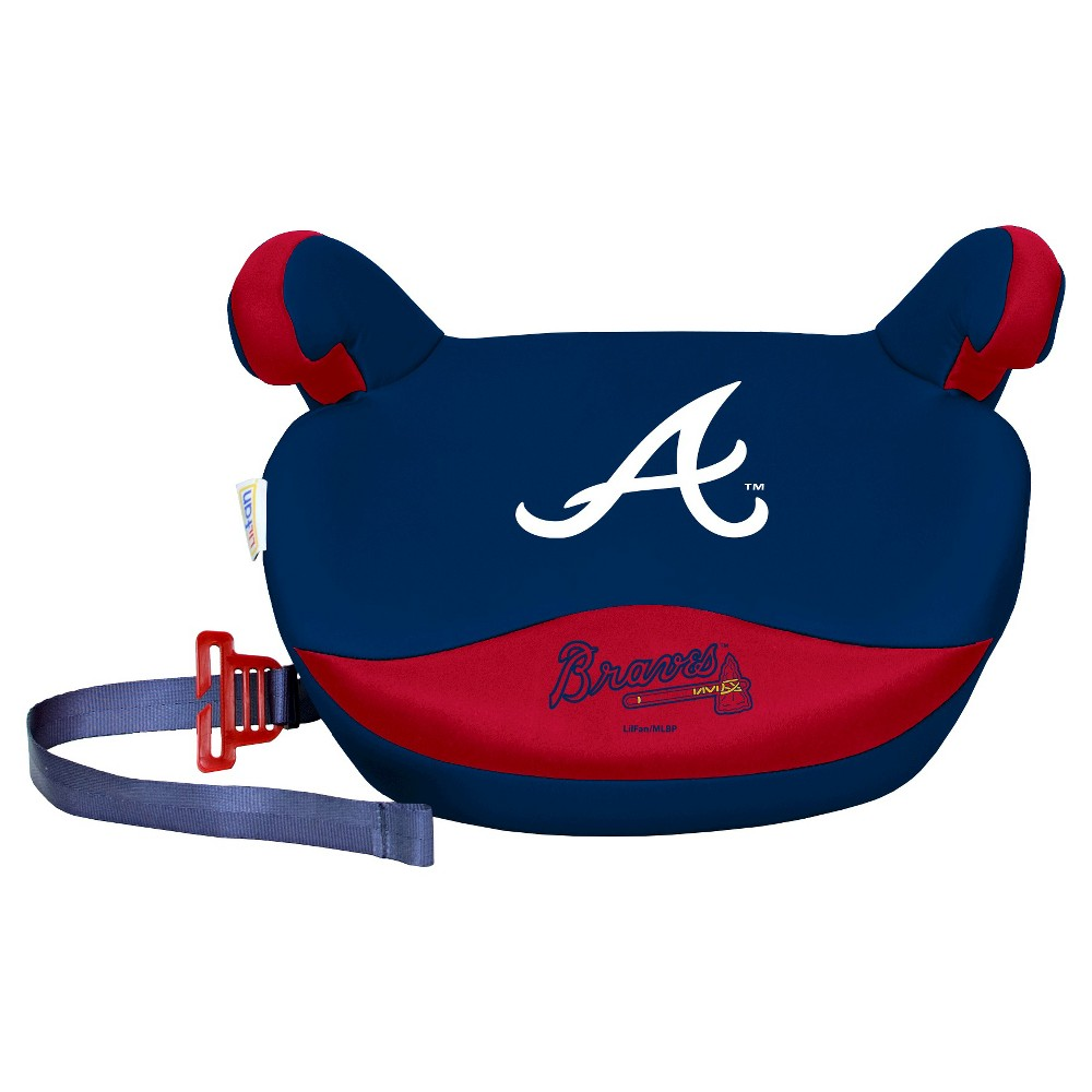 Atlanta Braves Lil Fan Box Seat Premium Slimline No Back Seat Booster