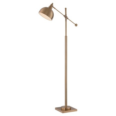 Cupola Floor Lamp Brushed Brass (Includes CFL Light Bulb) - Lite Source