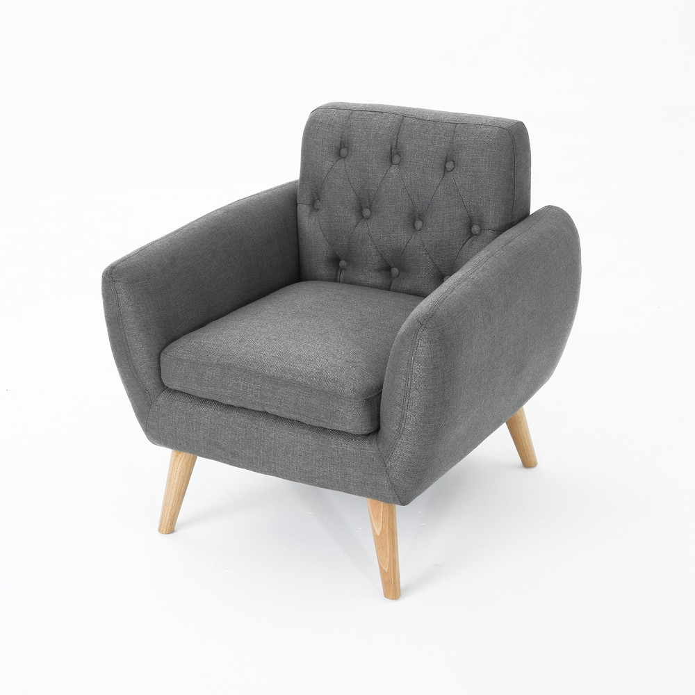 Bernice Petite Mid Century Club Chair Dark Gray - Christopher Knight Home