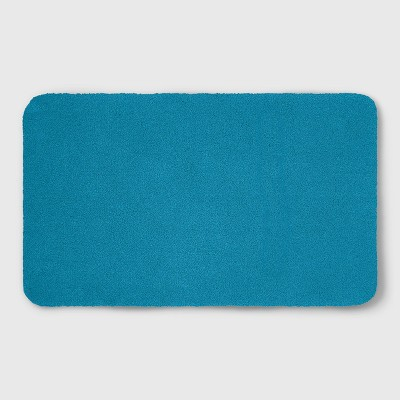 20 x34  Soft Nylon Solid Bath Rug Turquoise - Opalhouse™