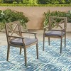 Perla 2pk Acacia Wood Patio Dining Chair - Christopher Knight Home - image 2 of 4