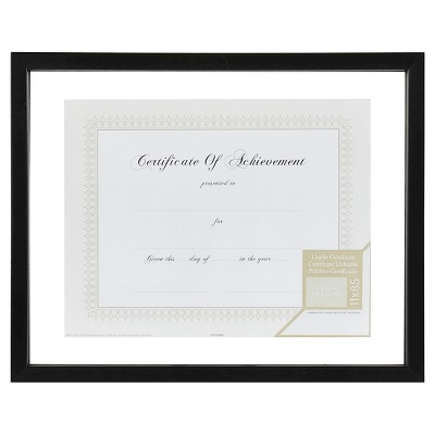 "8.5"" x 11"" Floating Document Frame Black - Gallery Solutions"