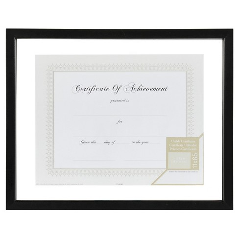 """8.5"""" x 11"""" Floating Document Frame Black - Gallery Solutions - image 1 of 4"""