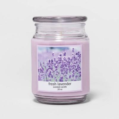 20oz Lidded Glass Jar Fresh Lavender Candle