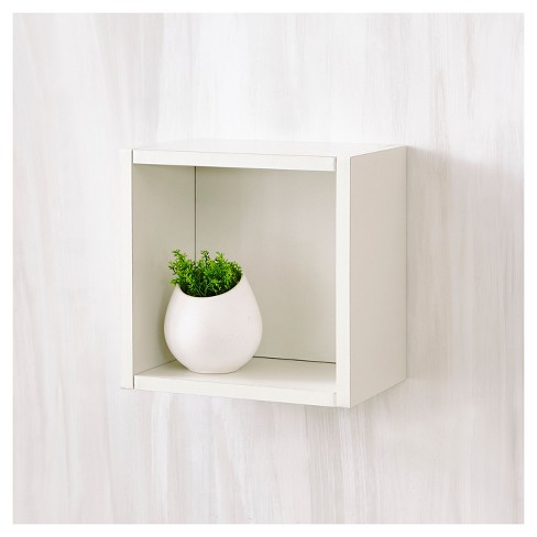 94be761a720b Way Basics Wall Cube - Floating Eco Decorative Wall Shelf - Natural White -  Lifetime Guarantee   Target