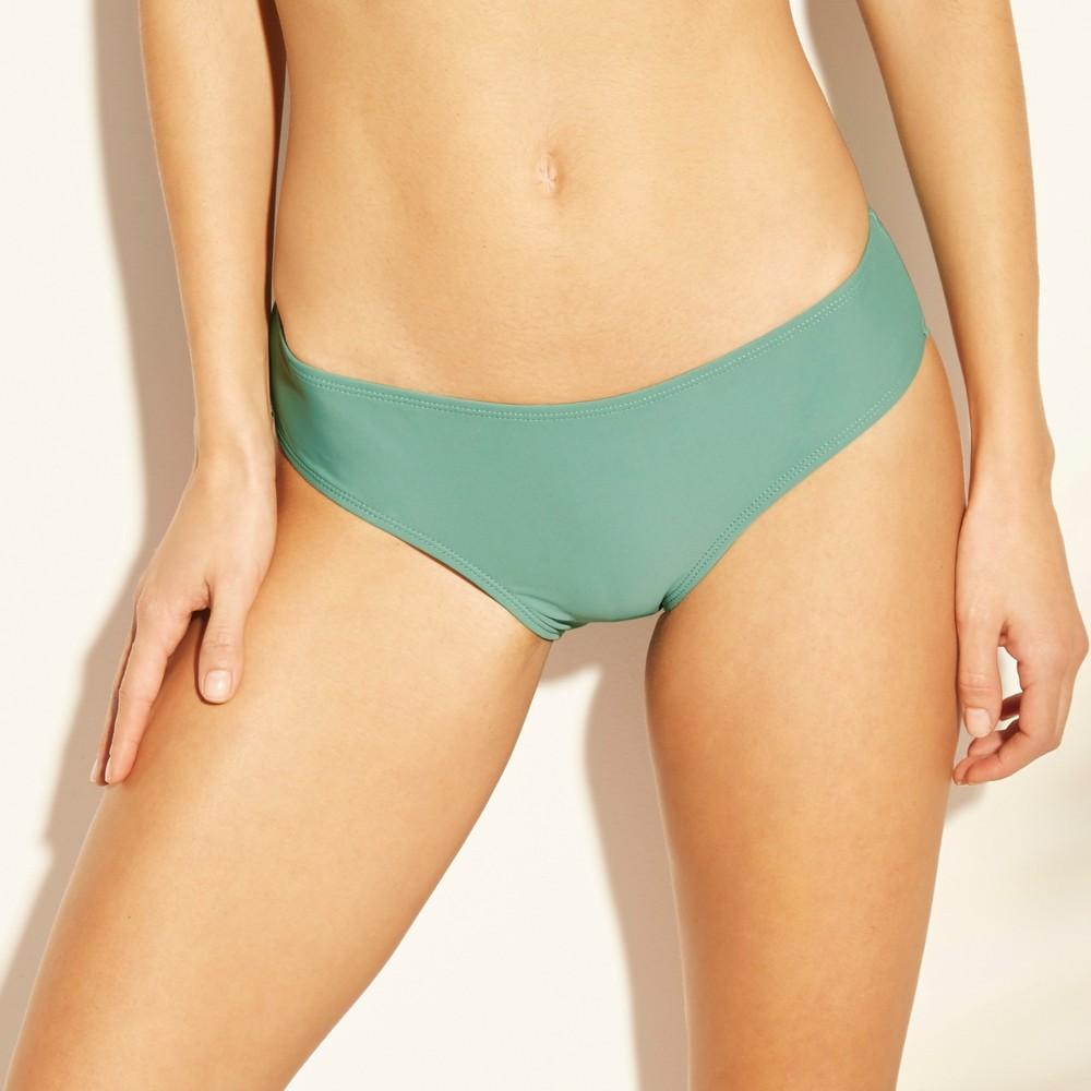Women's Cheeky Bikini Bottom - Xhilaration Sage Green M, Brown