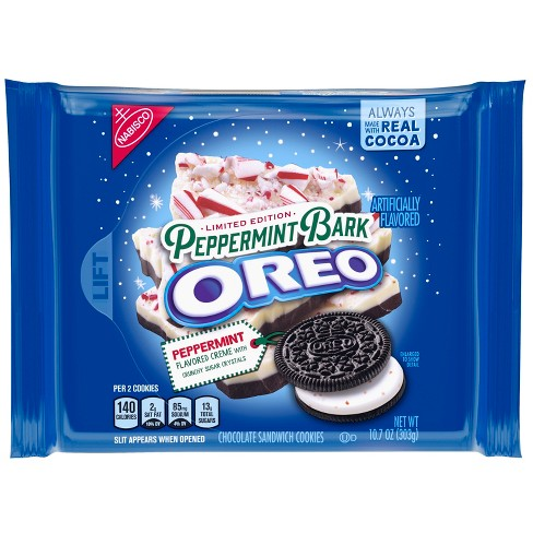 Oreo Peppermint Bark Chocolate Sandwich Cookies - 10.7oz - image 1 of 5