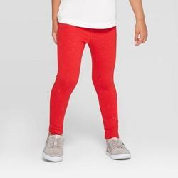 Toddler Girls' Sparkle Leggings - Cat & Jack™ Red