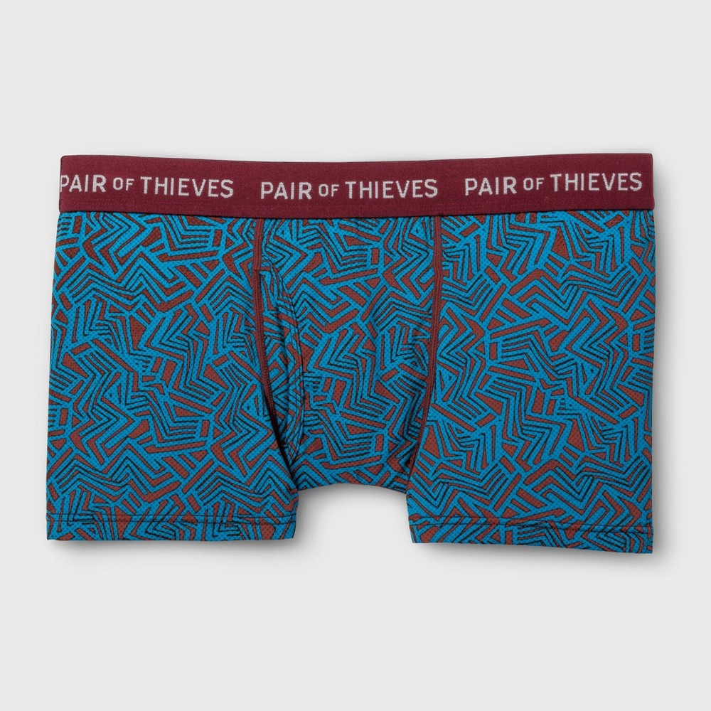 Pair of Thieves Men's Super Fit Trunks - Wine XL, Red