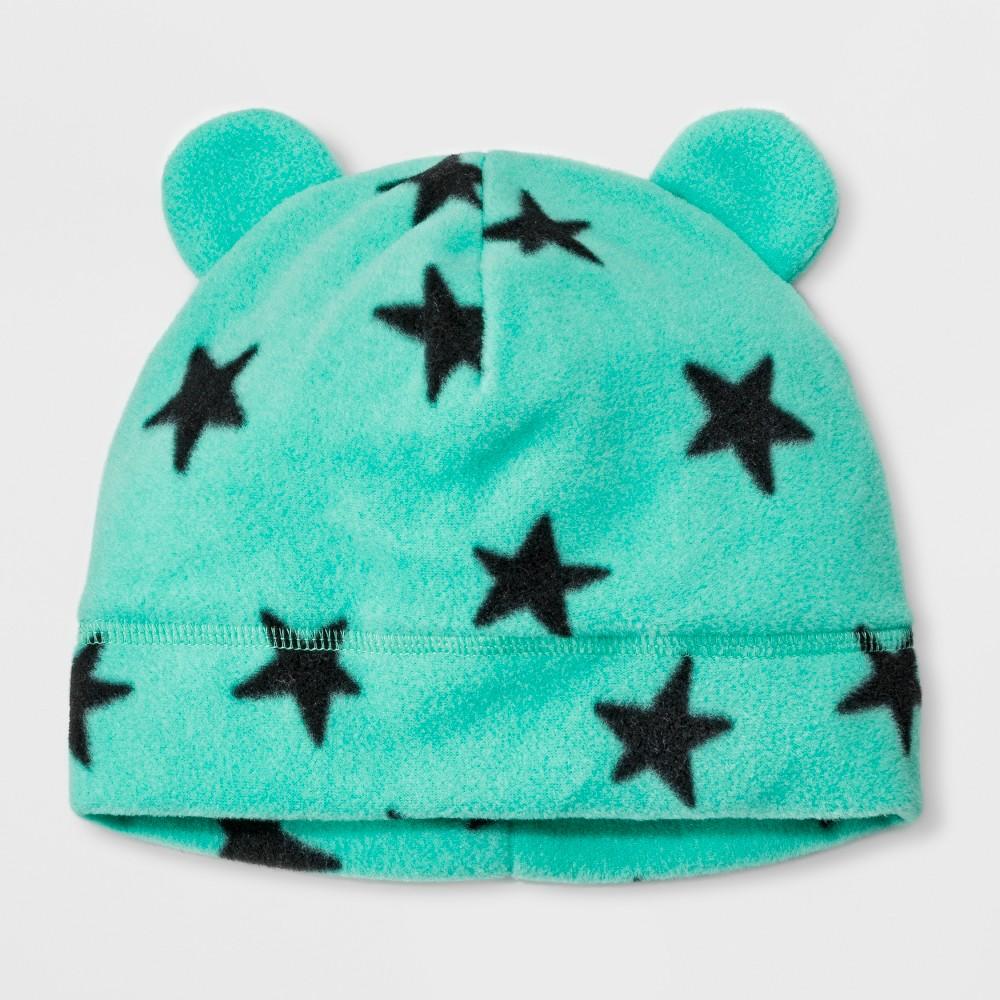 Girls' Star Fleece Beanie - Cat & Jack Turquoise 8-16, Blue