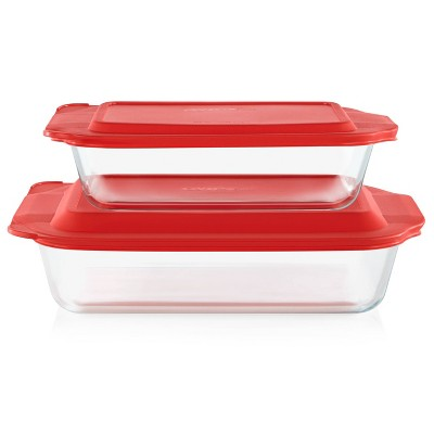 Pyrex Deep 4pc Glass Bakeware Set