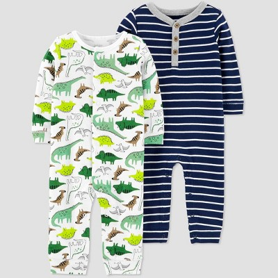 Baby Boys' 2pk Dino Jumpsuits - Just One You® made by carter's Blue 3M