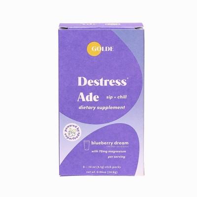 Golde Destress Ade Blueberry Dietary Supplements - 6ct
