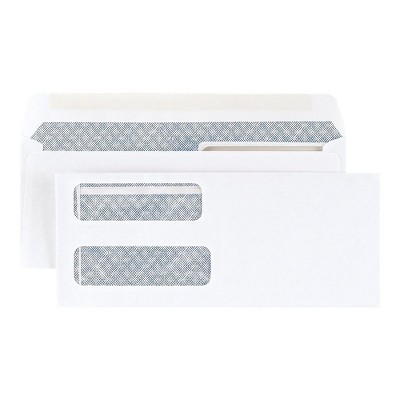 MyOfficeInnovations Gummed Laser Double-Window Security-Tint Envelopes 500/BX 394062