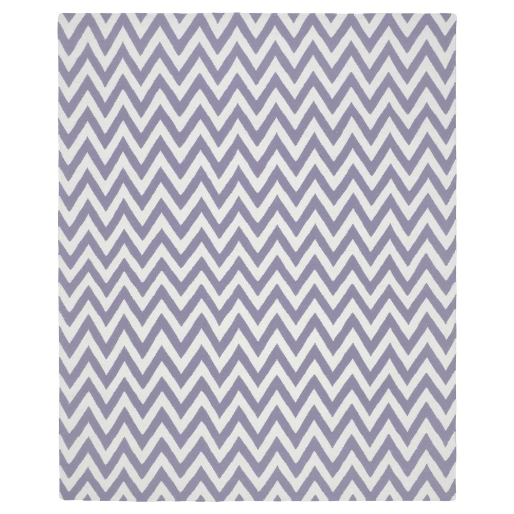 6'X9' Chevron Area Rug Purple/Ivory - Safavieh