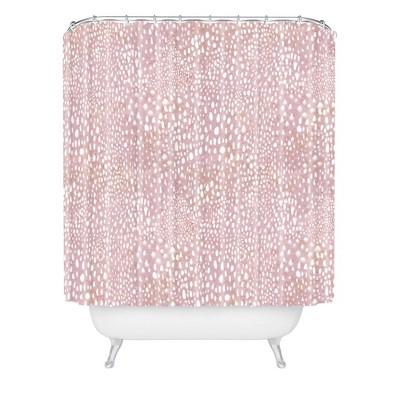 Schatzi Animal Skin Shower Curtain Pink - Deny Designs