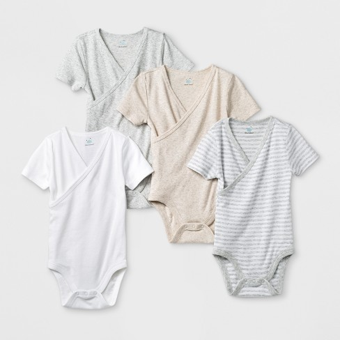 41c6dc54e Babys' 4pk Short Sleeve Kimono Bodysuit - Cloud Island™ White : Target