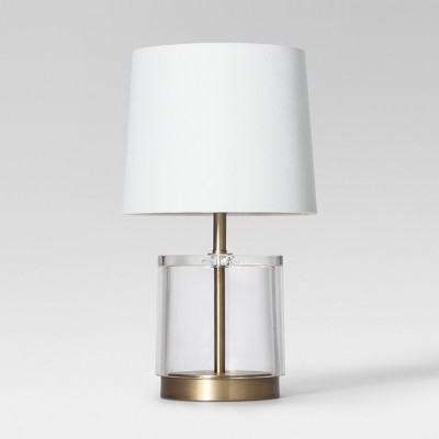 Modern Acrylic Accent Lamp (Includes LED Light Bulb)Brass - Project 62™
