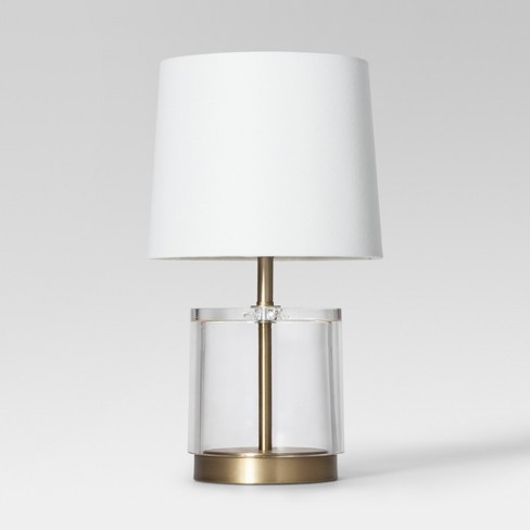 Modern Acrylic Accent Lamp Brass - Project 62™ - image 1 of 2