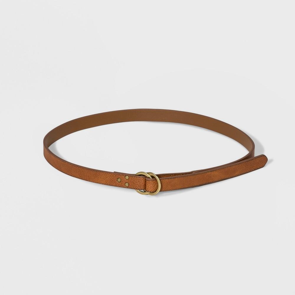Women's Ring Pull Back Belt - Universal Thread Cognac M, Brown