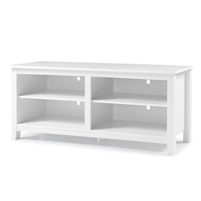 """Rustic Weathered Wood TV Stand for TVs up to 65"""" White - Saracina Home"""
